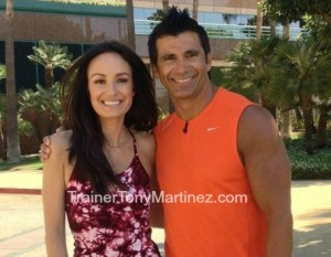 Trainer Tony Martinez and E! News Catt Sadler